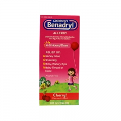 Children's Benadryl Allergy Cherry, 8oz