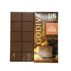 Godiva 31% Cacao Milk Chocolate Salted Caramel Bar