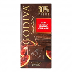 Godiva 50% Cacao Dark Chocolate Blood Orange Bar