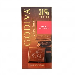 Godiva 31% Cacao Milk Chocolate Bar, 3.5oz