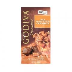 Godiva Milk Salted Toffee Caramels, 3.3oz