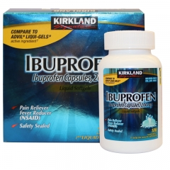 Kirkland Ibuprofen Capsules Liquid Softgels, 2pack