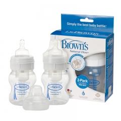 Dr.Brown's BPA Free Polypropylene Natural Flow,2pk