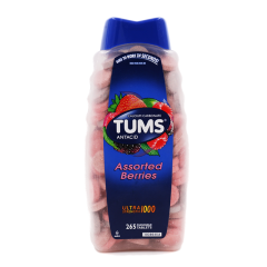 Tums Ultra Assorted Berries 265 Tablets