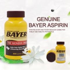 Genuine Bayer Aspirin(NSAID) Pain Reliever 500 tbs