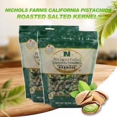 Nichols Farms California Pistachios Roasted Salted Kernels