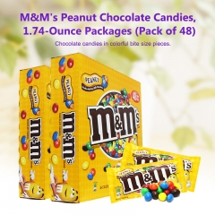 M&M's Peanut Chocolate Candies, 1.74-Ounce Packages (Pack of 48)