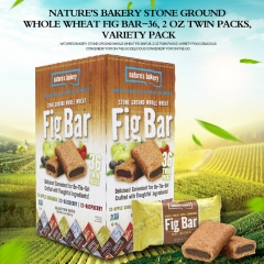 Nature's Bakery Stone Ground Whole Wheat Fig Bar-36, 2 OZ Twin Packs, variety pack