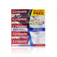 Colgate Advanced Whitening Toothpaste 8 Ounce Tube (Pack of 5)