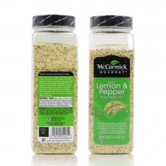 McCormick's Gourmet ZESTY LEMON & PEPPER Seasoning Salt 26oz
