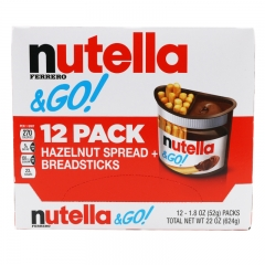 Nutella Ferrero Go Hazelnut Spread and Breadsticks, 12 packs- 22 Ounce