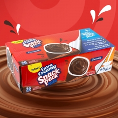 Hunt's Snack Pack Extra Creamy Chocolate Pudding, 3.75 Oz, 36 Count
