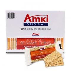 Amki Original Sesame Snaps,36 Ct