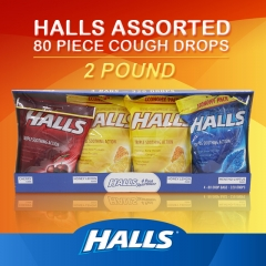 Halls Assorted 80 Piece Cough Drops, 2 Pound