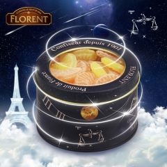 Florent  Twelve Horoscopes Candy Libra Orange/Lemon Segment Candy