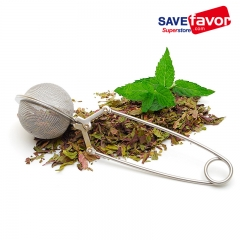 Savefavor Mesh Snap Ball Loose Leaf Tea Infuser, 18/8 Stainless Steel, 6-Inches x 1.5-Inches