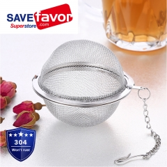 Savefavor 2pcs Stainless Steel Mesh Tea Ball 2.1 Inch Tea Infuser Strainers Tea Strainer Filters Tea Interval Diffuser for Tea
