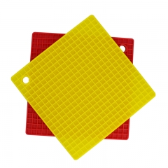 Premium Silicone Trivet Mats / Hot Pads, Pot Holders, Spoon Rest, Jar Opener & Coasters - Our 5 in 1 -2 pack