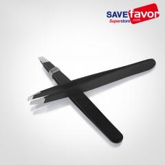Slant Tweezers - Savefavor Professional Stainless Steel Slant Tip Tweezer - The Best Precision Eyebrow Tweezers For Your Daily Beauty Routine