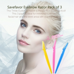 Savefavor Eyebrow Razor Pack of 3