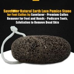 Natural Earth Lava Pumice Stone for Foot Callus by Savefavor - Premium Callus Remover for Feet and Hands-2 pack