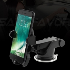 Savefavor Easy One Touch 2 Car Mount Holder for iPhone X 8/8s 7 7 Plus 6s Plus 6s 6 SE Samsung Galaxy S8 Plus S8 Edge S7 S6 Note 8 5