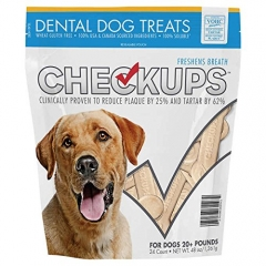 CheckUps Dental Dog Treats 24 Count, 1 Pack